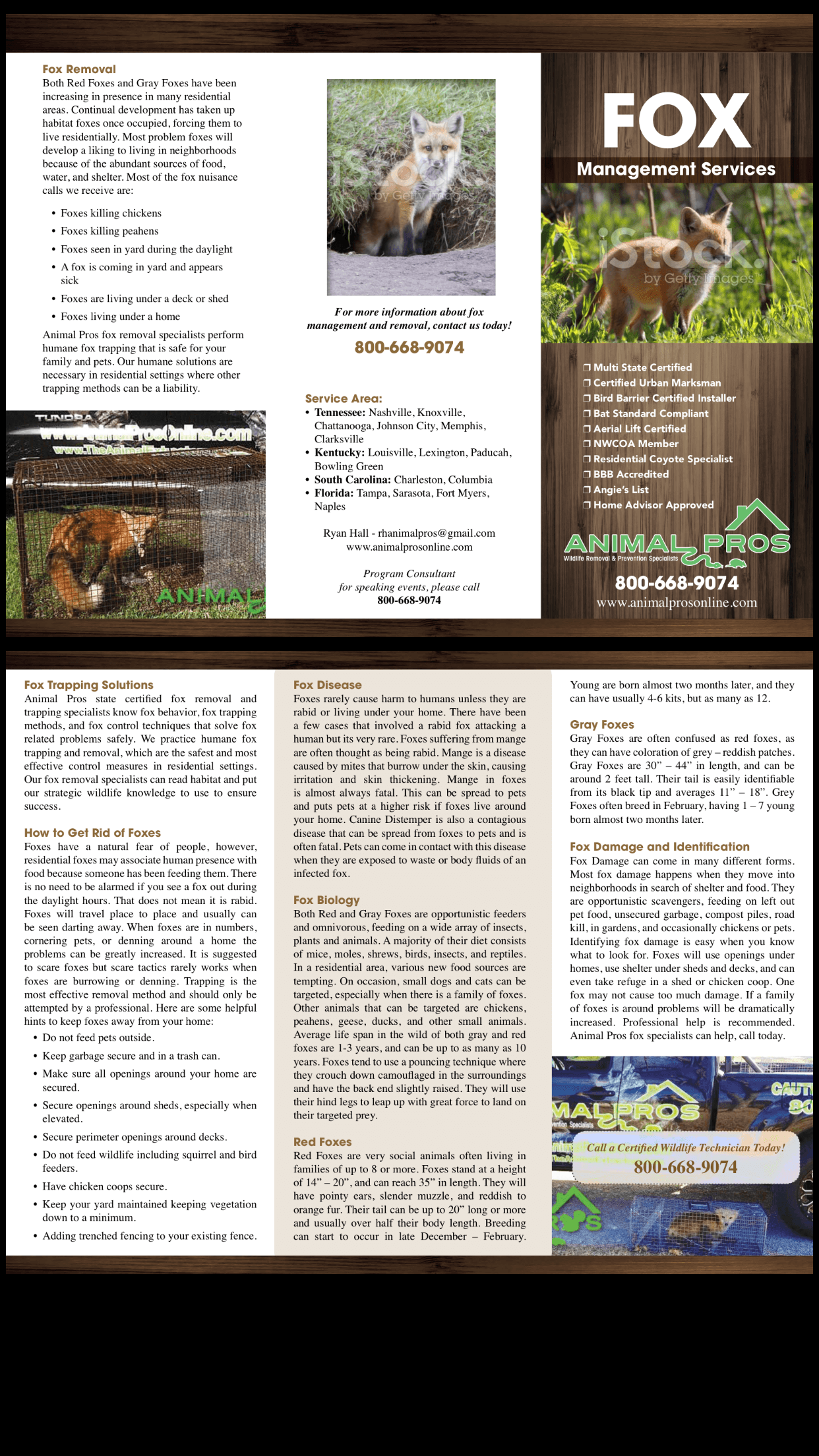 Animal Pros Nashville Fox Brochure