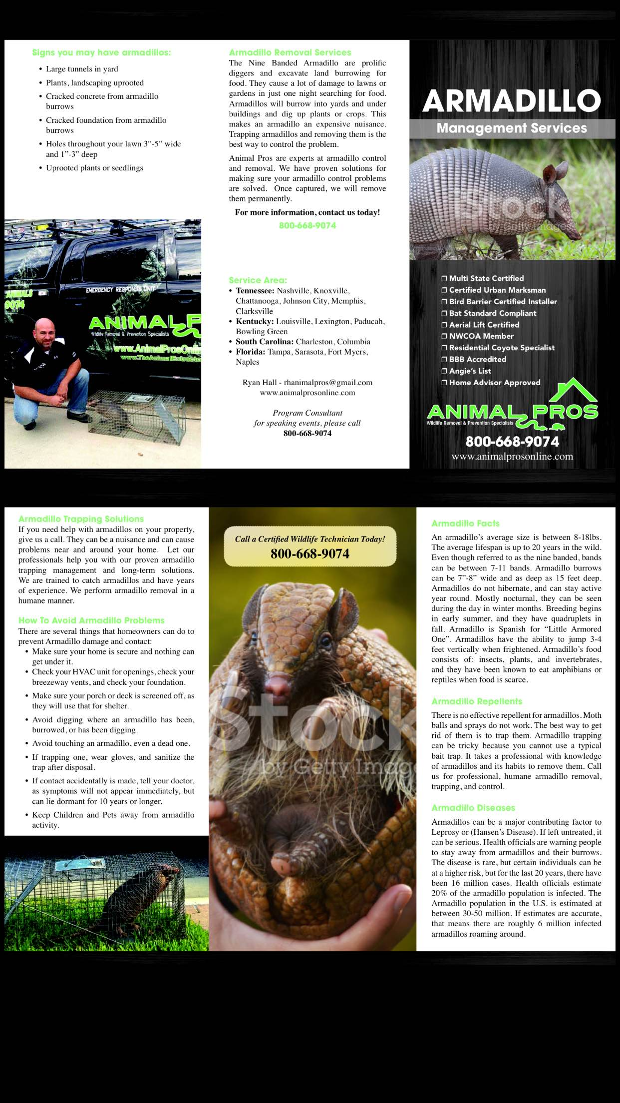 Animal Pros Armadillo Brochure