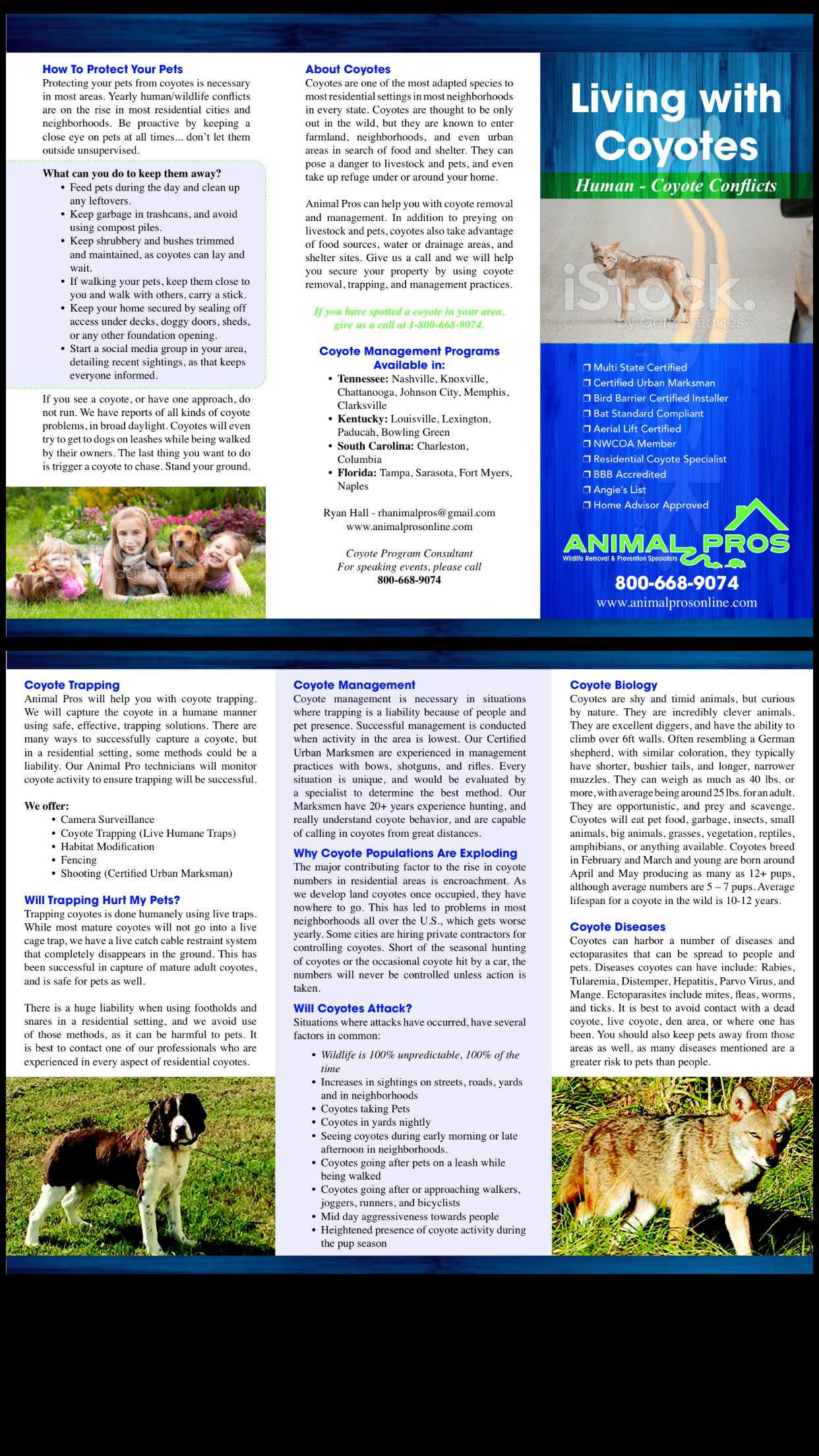 Animal Pros Nashville Coyote Brochure